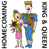 Homecoming King and Queen Royalty Free Stock Photo