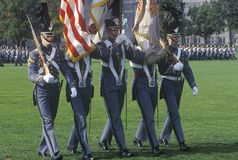 Homecoming Parade Honor Guard. West Point Military Academy, West Point, New York Royalty Free Stock Photo
