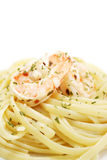 Homecooked aglio olio linguine Royalty Free Stock Images