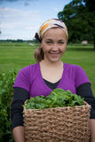homegrown γυναίκα πρασίνων Στοκ φωτογραφία με δικαίωμα ελεύθερης χρήσης