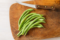 Homegrown πράσινα φασόλια στοκ εικόνα με δικαίωμα ελεύθερης χρήσης