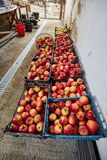 Homegrown apples in crates Royalty Free Stock Images