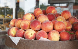 Homegrown Peaches Stock Photo