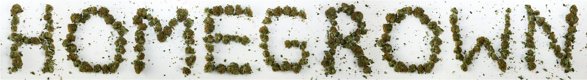 Homegrown Spelled With Marijuana Stock Images