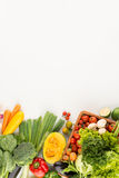 Homegrown vegetables and greens Royalty Free Stock Images
