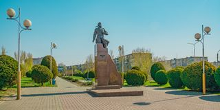 Monument to A. P. Maresyev in Kamyshin. In the homeland of Alexey Maresyev, in Kamyshin 180 kilometers from Volgograd, a monument in his honor. Despite the royalty free stock photography
