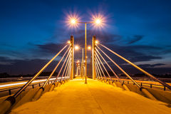 Homeland bridge during sunset in Zagreb, Croatia Royalty Free Stock Image