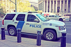 Homeland Security Federal Police Car Royalty Free Stock Image