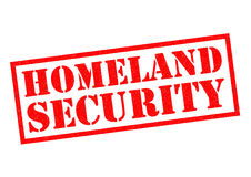 HOMELAND SECURITY. Red Rubber Stamp over a white background Stock Photo
