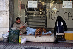 Homelerss dans la rue 36 Images stock