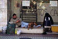 Homelerss in straat 36 Stock Afbeeldingen