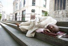 homeless бизнесмена Стоковые Фото