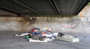 Homeless в Кельн стоковые изображения