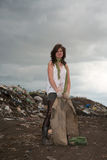 homeless девушки Стоковые Изображения RF