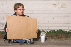 homeless мальчика Стоковая Фотография RF