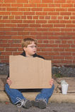 homeless мальчика Стоковое Изображение