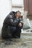 homeless нажатия укомплектовывают личным составом Стоковые Фото