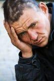 homeless нажатия укомплектовывают личным составом Стоковая Фотография