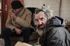 homeless photo stock