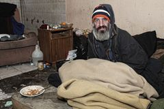 homeless photo libre de droits