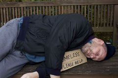 Homeless. Man hungry and begging stock photos