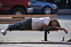 Homeless. Despite efforts in the recent decade, homelessness is still a problem which needs to be properly addressed in New York City Royalty Free Stock Images