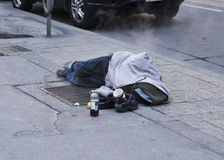 Homeless. In the streets during winter royalty free stock images