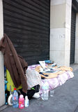 Homeless bed in Paris Royalty Free Stock Photo