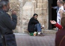 Homeless begging for money Stock Images
