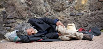 Homeless in Bogota Royalty Free Stock Photography