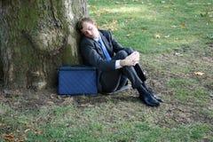 Homeless business man Stock Photo