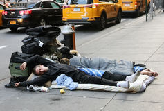 Homeless Couple Stock Photo