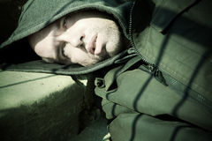 Homeless death Stock Images