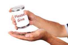 Homeless donation Royalty Free Stock Photos