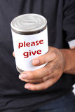Homeless donation Stock Photography