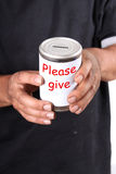 Homeless donation Royalty Free Stock Photo