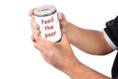 Homeless donation Stock Photography
