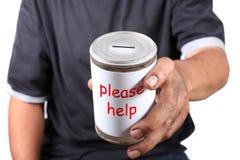 Homeless donation Royalty Free Stock Photography