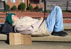 Homeless Down Stock Image
