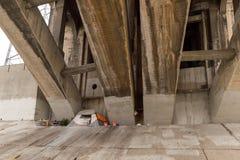 Free Homeless Encampment Under Bridge In Los Angeles Stock Image - 101195131
