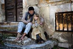 Homeless family Royalty Free Stock Image