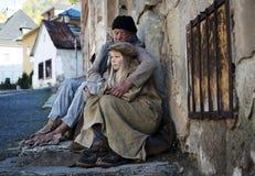 Homeless family Stock Images