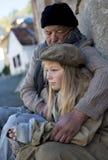 Homeless family royalty free stock photos