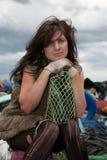 Homeless girl. Royalty Free Stock Image