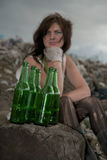 Homeless girl. Stock Images