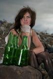 Homeless girl. Royalty Free Stock Photography