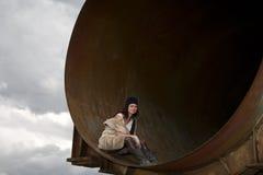 Homeless girl Stock Images