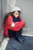 Homeless girl Royalty Free Stock Images