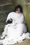 Homeless Girl Sleeping Rough Stock Images