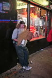 Homeless guy in New York City Royalty Free Stock Images